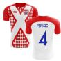 2018-2019 Croatia Fans Culture Home Concept Shirt (Perisic 4) - Womens