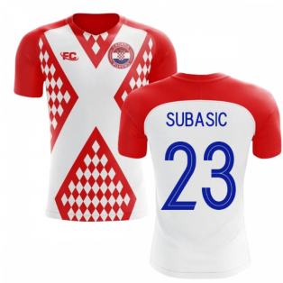 2018-2019 Croatia Fans Culture Home Concept Shirt (Subasic 23)
