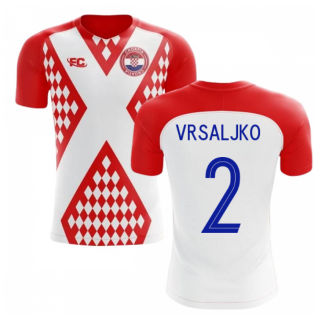 2018-2019 Croatia Fans Culture Home Concept Shirt (Vrsaljko 2)