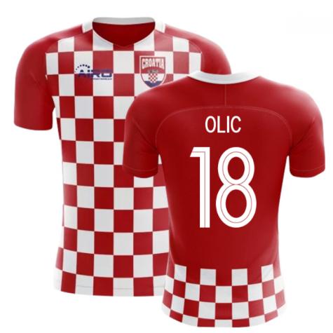 2018-2019 Croatia Flag Concept Football Shirt (Olic 18)