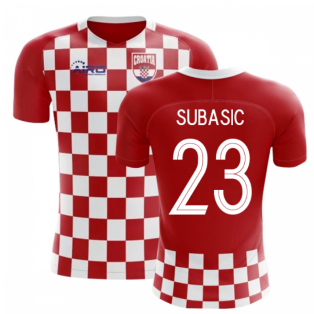 2018-2019 Croatia Flag Concept Football Shirt (Subasic 23)