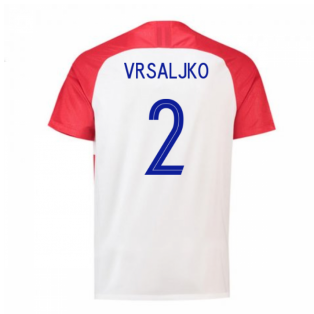 2018-2019 Croatia Home Nike Football Shirt (Vrsaljko 2) - Kids