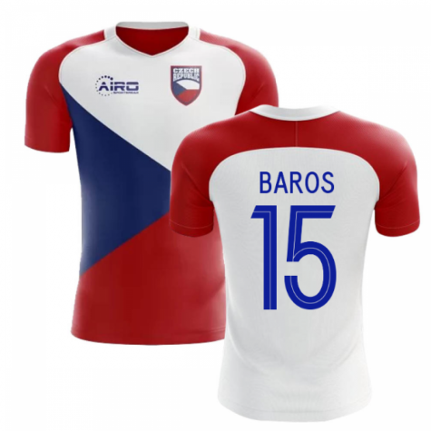 2018-2019 Czech Republic Home Concept Football Shirt (BAROS 15) - Kids
