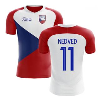 d40e67a53 2018-2019 Czech Republic Home Concept Football Shirt (NEDVED 11)