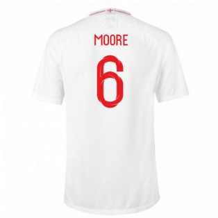 2018-2019 England Home Nike Football Shirt (Moore 6) - Kids