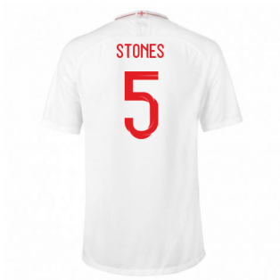 2018-2019 England Home Nike Football Shirt (Stones 5)