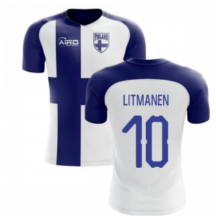 2018-2019 Finland Flag Concept Shirt (LITMANEN 10)