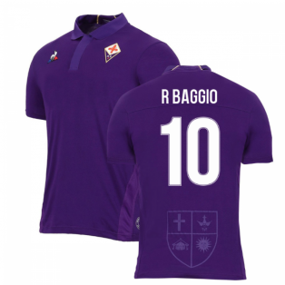 2018-2019 Fiorentina Home Football Shirt (R Baggio 10)