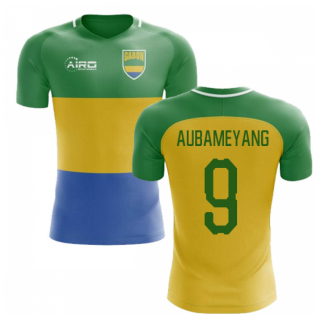 2018-2019 Gabon Home Concept Football Shirt (Aubameyang 9) - Kids