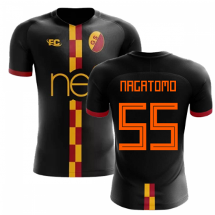 2018-2019 Galatasaray Fans Culture Away Concept Shirt (Nagatomo 55)
