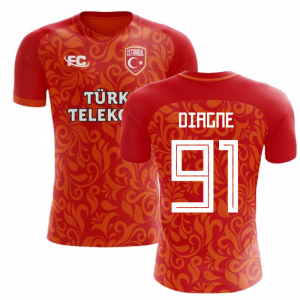 2018-2019 Galatasaray Fans Culture Home Concept Shirt (Diagne 91) - Baby
