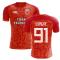 2018-2019 Galatasaray Fans Culture Home Concept Shirt (Diagne 91)