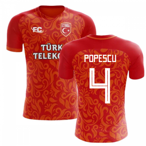 2018-2019 Galatasaray Fans Culture Home Concept Shirt (Popescu 4)
