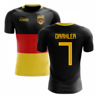 2018-2019 Germany Flag Concept Football Shirt (Draxler 7)