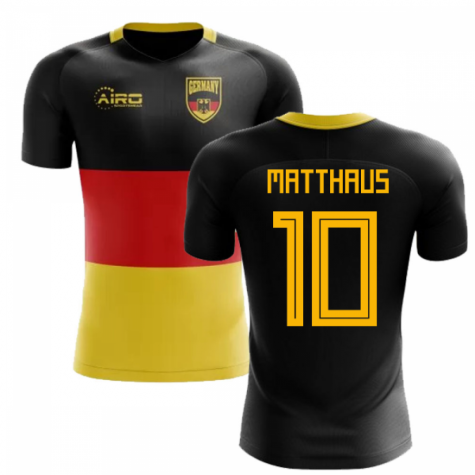 2018-2019 Germany Flag Concept Football Shirt (Matthaus 10)