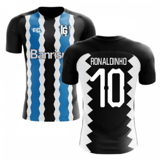 2018-2019 Gremio Fans Culture Home Concept Shirt (Ronaldinho 10) - Kids