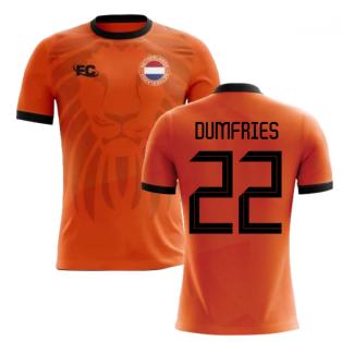 2018-2019 Holland Fans Culture Home Concept Shirt (DUMFRIES 22) - Kids