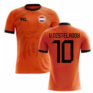 2018-2019 Holland Fans Culture Home Concept Shirt (V.NISTELROOY 10) - Little Boys