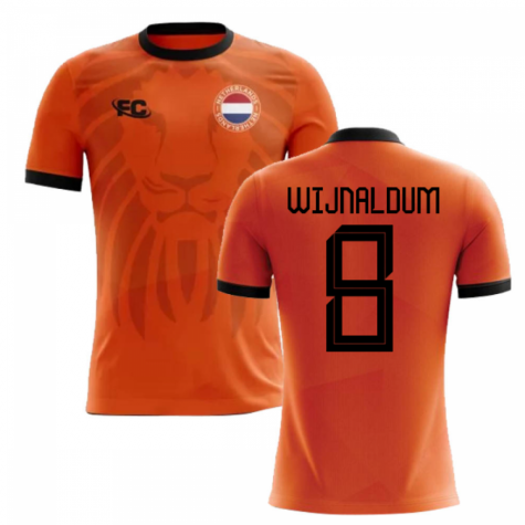 2018-2019 Holland Fans Culture Home Concept Shirt (WIJNALDUM 8)