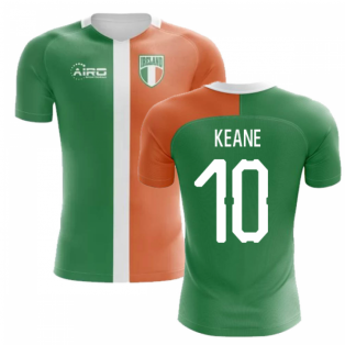 2020-2021 Ireland Flag Concept Football Shirt (Keane 10)