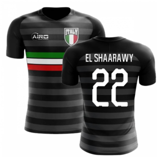 2020-2021 Italy Third Concept Football Shirt (El Shaarawy 22)