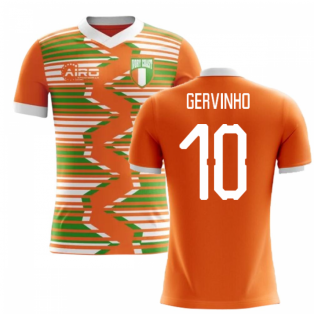 2020-2021 Ivory Coast Home Concept Football Shirt (Gervinho 10)