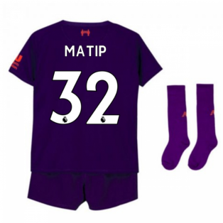 2018-2019 Liverpool Away Little Boys Mini Kit (Matip 32)