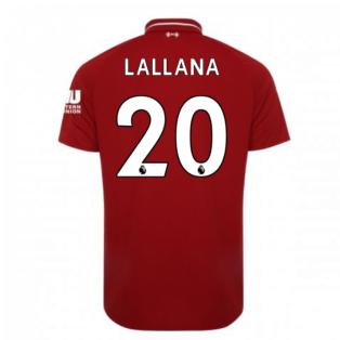 2018-2019 Liverpool Home Football Shirt (Lallana 20) - Kids