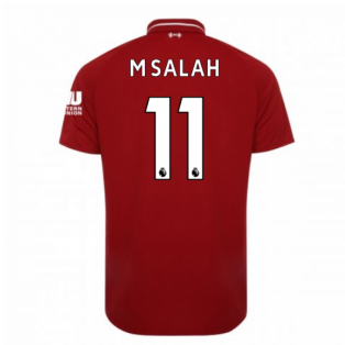 2018-2019 Liverpool Home Football Shirt (M Salah 11)