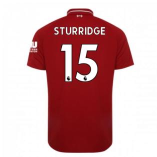 2018-2019 Liverpool Home Football Shirt (Sturridge 15)