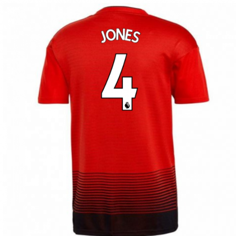 2018-2019 Man Utd Adidas Home Football Shirt (Jones 4)