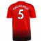 2018-2019 Man Utd Adidas Home Football Shirt (Marcos Rojo 5)