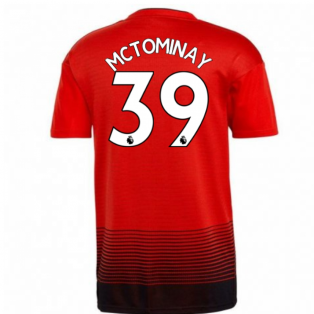 2018-2019 Man Utd Adidas Home Football Shirt (McTominay 39)