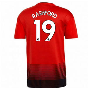 2018-2019 Man Utd Adidas Home Football Shirt (Rashford 19)