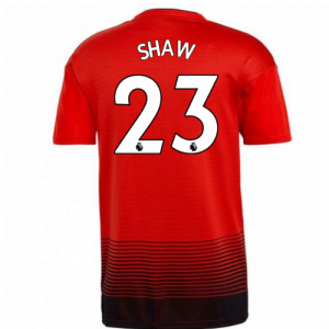 2018-2019 Man Utd Adidas Home Football Shirt (Shaw 23)