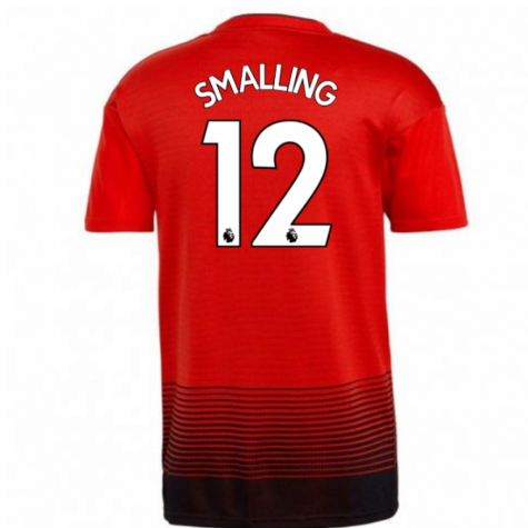 2018-2019 Man Utd Adidas Home Football Shirt (Smalling 12)