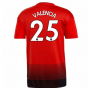 2018-2019 Man Utd Adidas Home Football Shirt (Valencia 25)