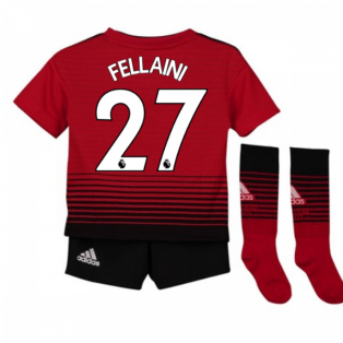 4c4008f8069 2018-2019 Man Utd Adidas Home Little Boys Mini Kit (Fellaini 27)