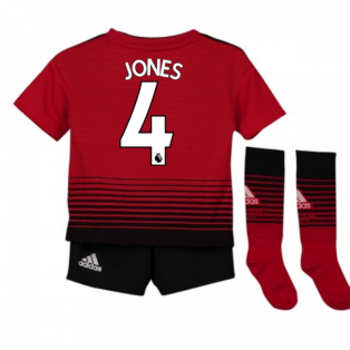 2018-2019 Man Utd Adidas Home Little Boys Mini Kit (Jones 4)