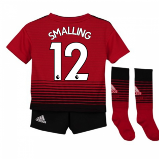 2018-2019 Man Utd Adidas Home Little Boys Mini Kit (Smalling 12)