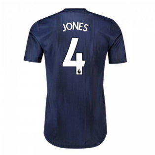 2018-2019 Man Utd Adidas Third Adi Zero Football Shirt (Jones 4)