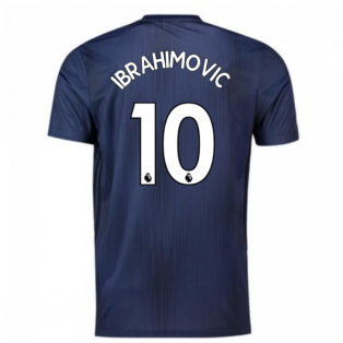 2018-2019 Man Utd Adidas Third Football Shirt (Ibrahimovic 10)