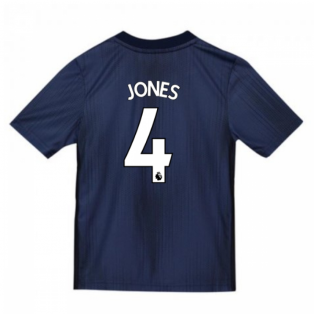 2018-2019 Man Utd Adidas Third Football Shirt (Kids) (Jones 4)