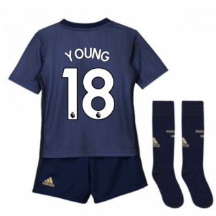 2018-2019 Man Utd Adidas Third Little Boys Mini Kit (Young 18)