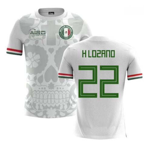 2018-2019 Mexico Away Concept Football Shirt (H Lozano 22)