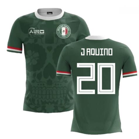 2020-2021 Mexico Home Concept Football Shirt (J Aquino 20)