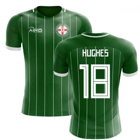 2020-2021 Northern Ireland Home Concept Football Shirt (Hughes 18)