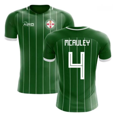 2018-2019 Northern Ireland Home Concept Football Shirt (McAuley 4) - Kids