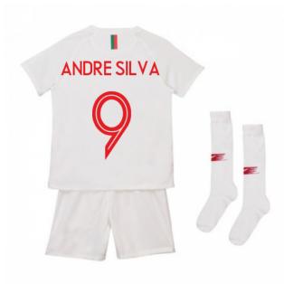 2018-2019 Portugal Away Nike Mini Kit (Andre Silva 9)