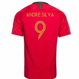 2018-2019 Portugal Home Nike Football Shirt (Andre Silva 9)